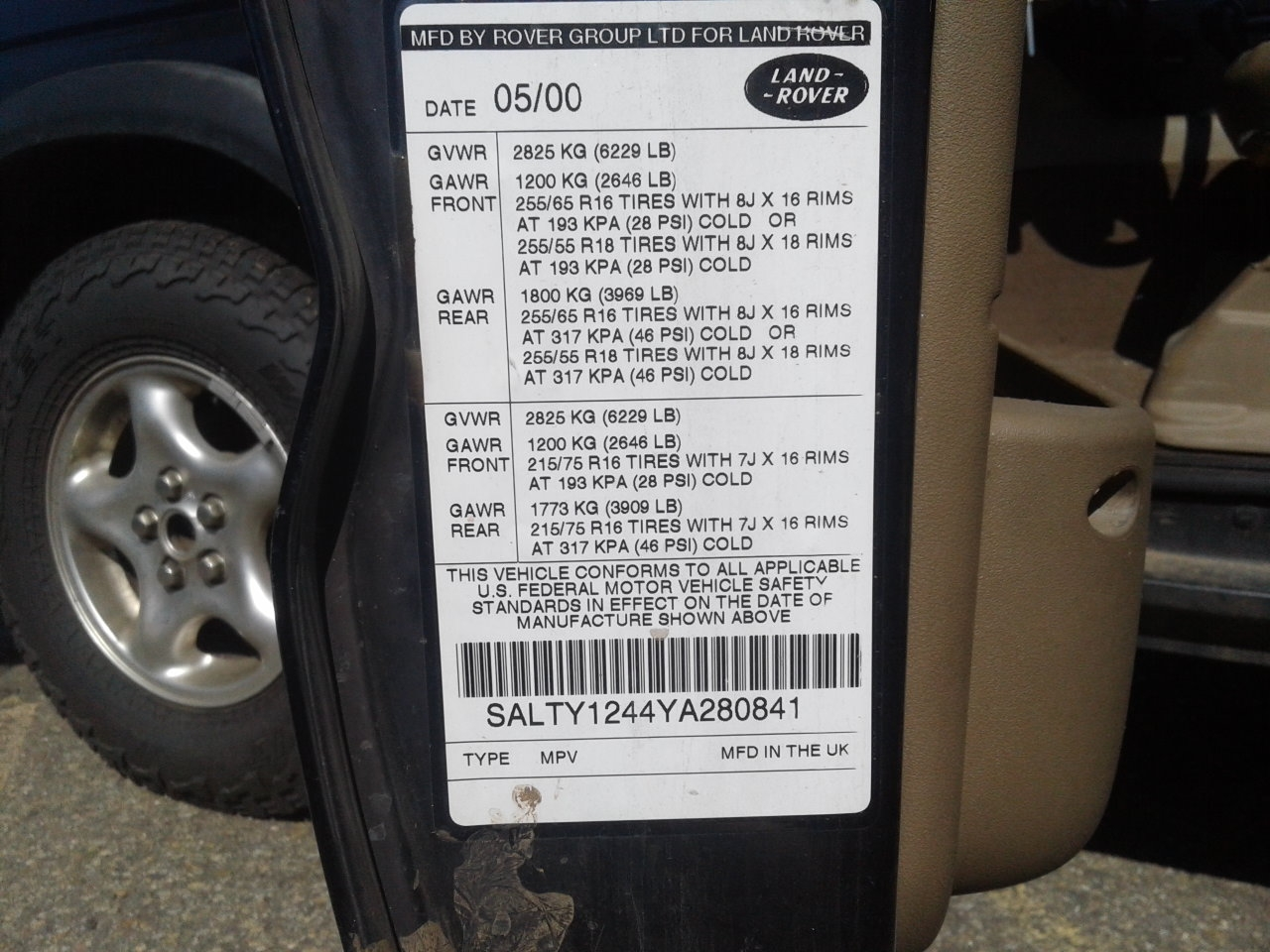 Product Information Land Rover Coolant Used Part